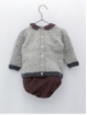 Baby boy set with dog with trench coat