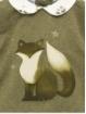 Set de jersey y braguita estampado zorritos