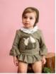 Set de bebé niña de jersey y braguita estampado zorrito