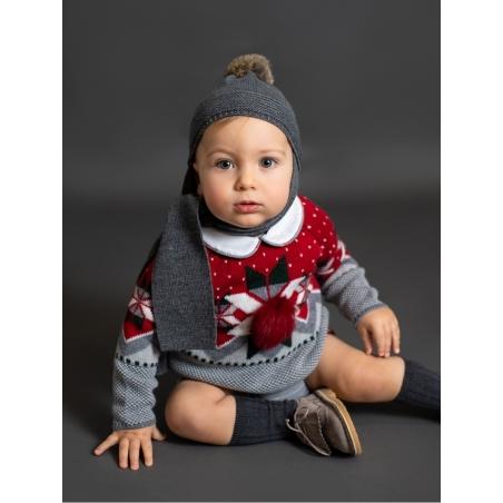 Conjunto bebé criança camisola greca e cuequinha