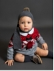 Baby boy set of fretwork sweater and bloomers
