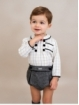 Set of checked shirt and houndstooth bloomers