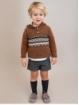 Conjunto niño de camisa cuadros y pantalón corto