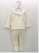 Set bebé niña primera puesta jersey y polaina