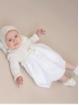 Vestido faldón bebé criança flores