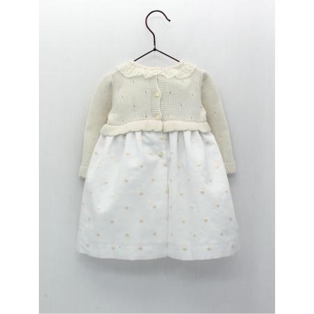 Flowered skirt-type girl dress