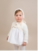 Embroidered Christening baby bonnet