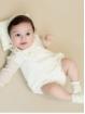 Pelele cuello bebé en bodoque bordado