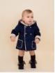 Double-faced baby boy duffle coat