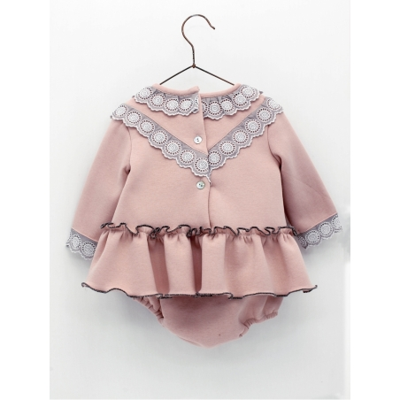 Dress and bloomers in sweatshirt fabric