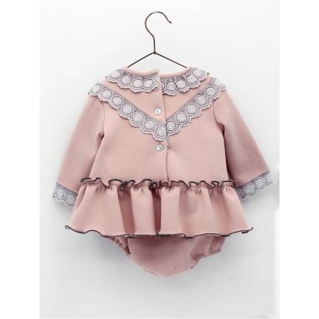 Vestido e cuequinha em tecido sudadera