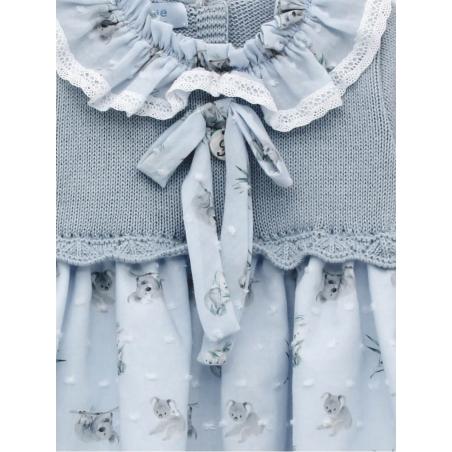 Baby girl skirt-like dress with koala print