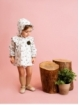 Patterned baby girl bonnet