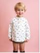 Camisa bebé criança estampada pescoço mao