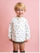 Camisa bebé niño estampada cuello mao
