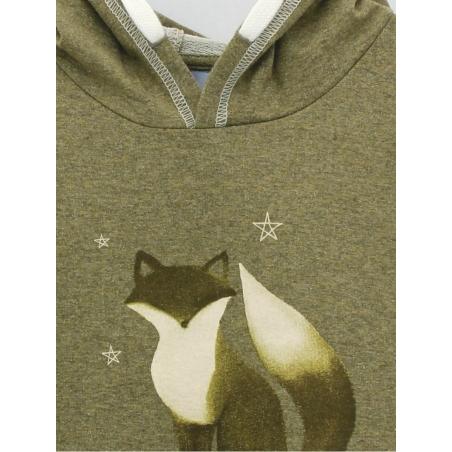 Baby sweatshirt with little fox print