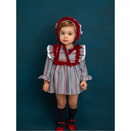 Baby girl striped romper-dress