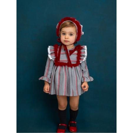 Vestido jesusito bebé niña rayas