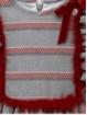 Striped girl dress with waist cut