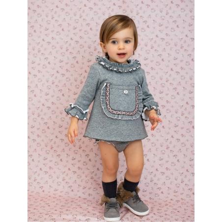 Vestido jesusito bebé niña tejido sudadera