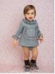 Baby girl romper dress in sweatshirt fabric