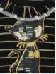 Camisola criança listras com gato lentejuelas