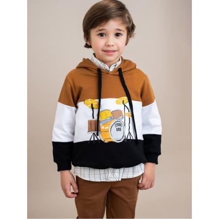 Camisa criança corte clássico quadros
