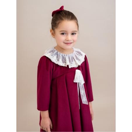 Vestido criança cerimónia terciopelo