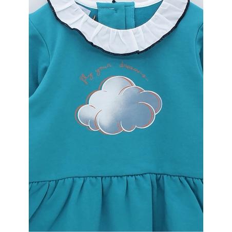 Vestido criança estampado nuvem