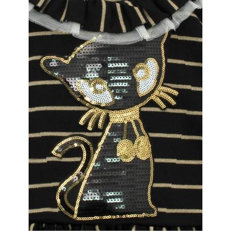 Vestido criança gato lentejuelas