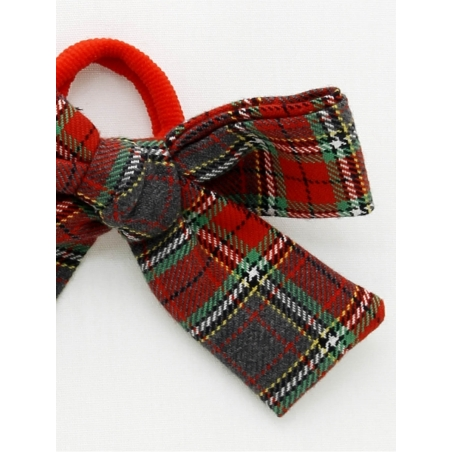Girl scrunchie with checked bow