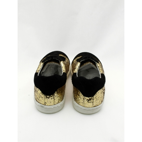 Glitter gold and black sneakers for girl